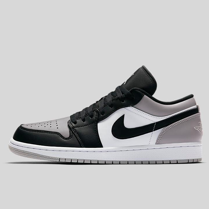 huge selection of 8242a dfe33 Nike AIR JORDAN 1 LOW White Atmosphere Grey-Black (553558-110) ...