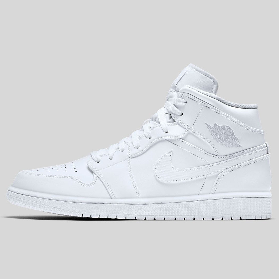 quality design 1485b 81554 Nike Air Jordan 1 Mid White Pure Platinum