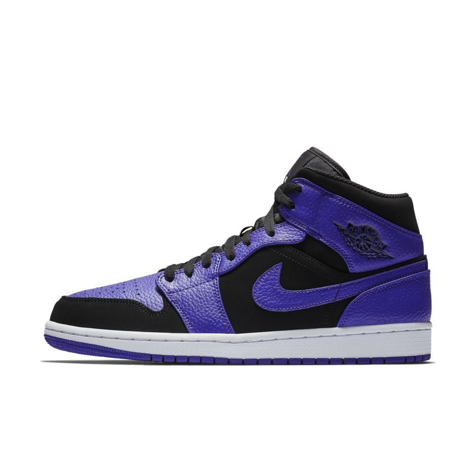 1095a607613dc7 Nike Air Jordan 1 Mid BLACK DARK CONCORD-WHITE (554724-051) (554724 ...