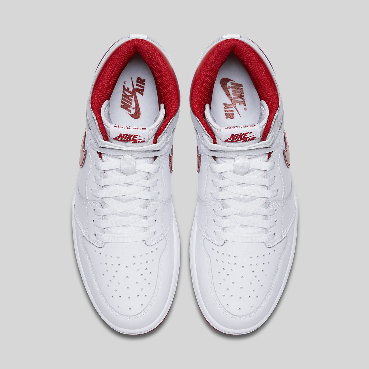 da57e066d95 Nike Air Jordan 1 Retro High OG White Metallic Red (555088-103 ...