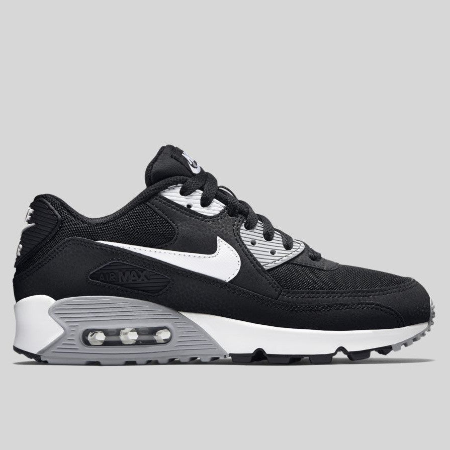 nike wmns air max 90 essential black\/wolf grey\/white cozy