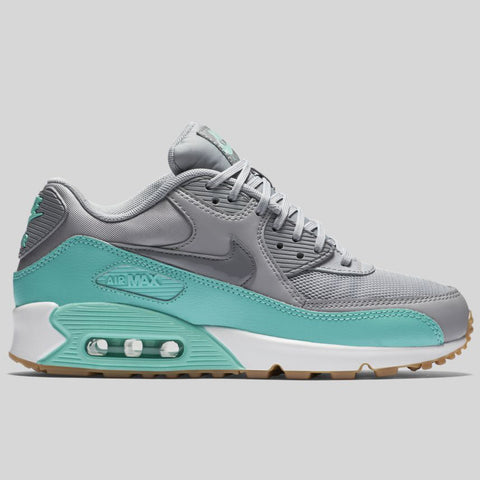 Nike Wmns Air Max 90 Essential Wolf Grey Stealth Hyper Turquoise  (616730-026)
