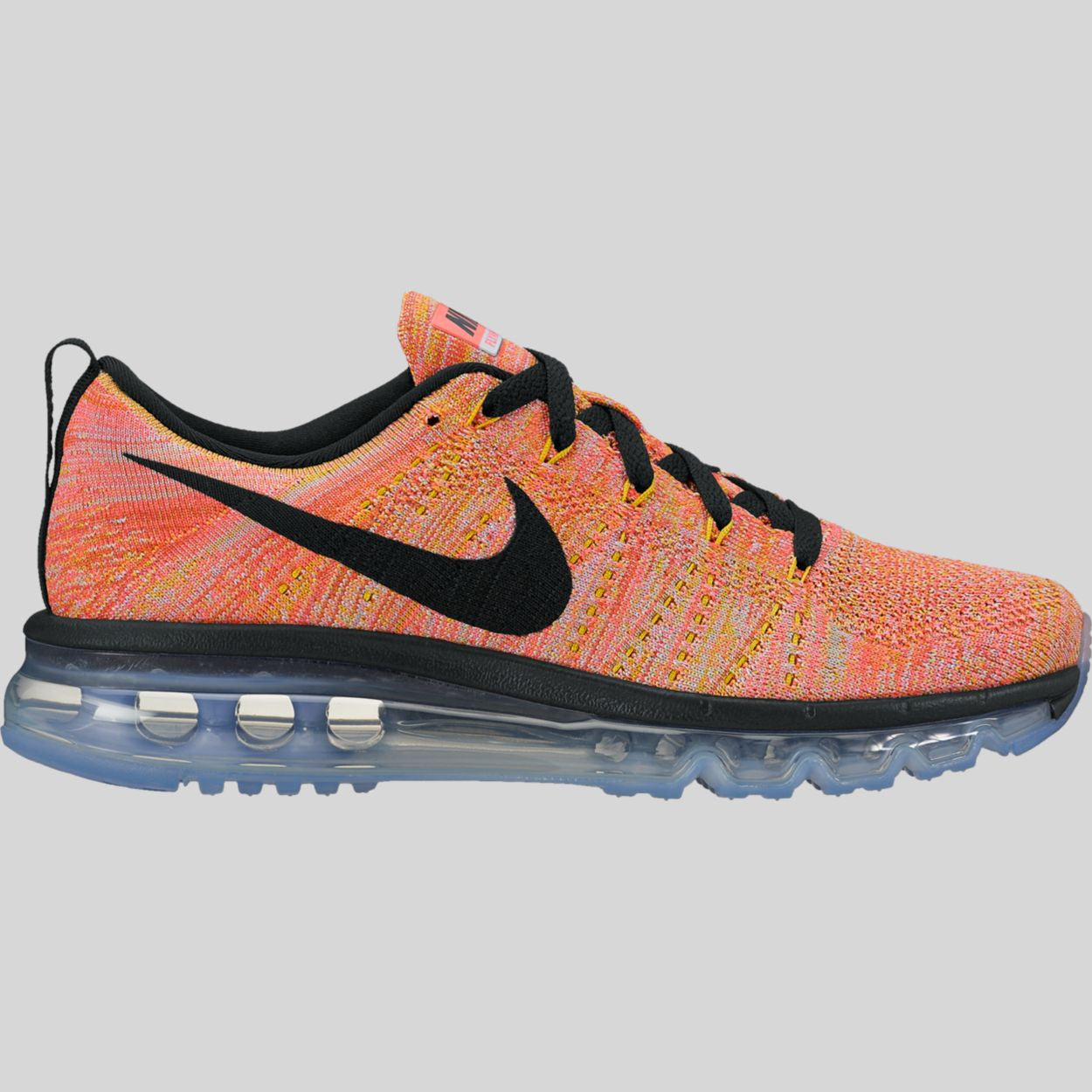 best website b8dde 22333 Nike Wmns Flyknit Max Aluminum Black Hot Punch Electrolime (620659-406)