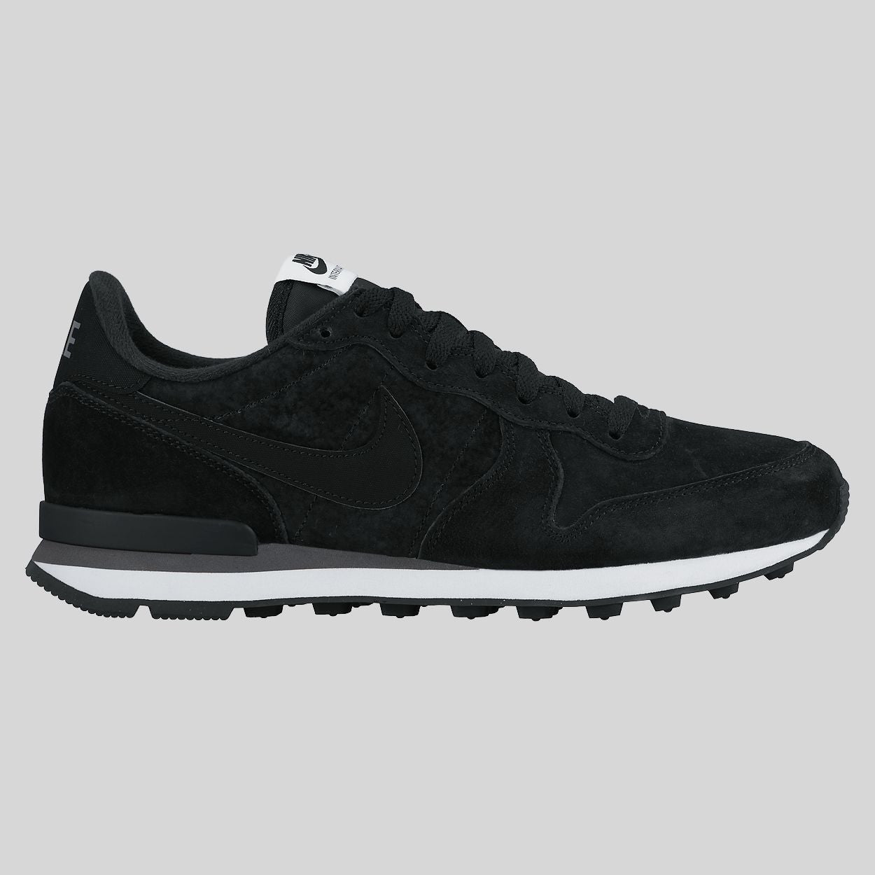 Nike Internationalist Leather Black Suede White (631755-010)