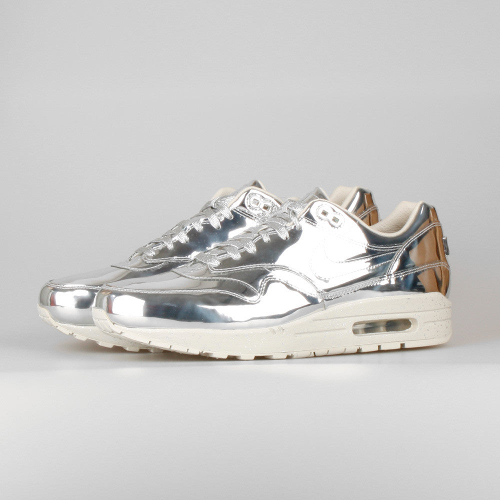 16ebd25a78 Nike Air Max 1 SP Liquid Metal Silver. Item Number: 635786-002. Color: MTLLC  SLVR/MTLLC ...