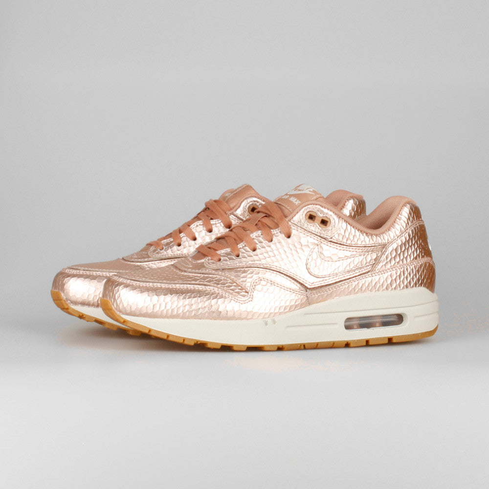 727169f2b5 ... Nike Wmns Air Max 1 Cut Out PRM Metallic Red Bronze ...