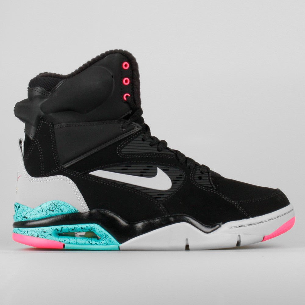 nike air command force black white pink