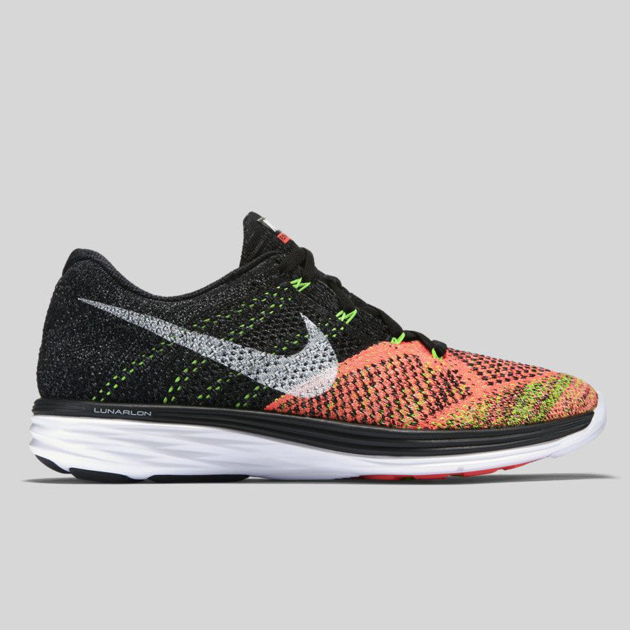 Nike Flyknit Lunar3 Black Hot Lava (698181-007)