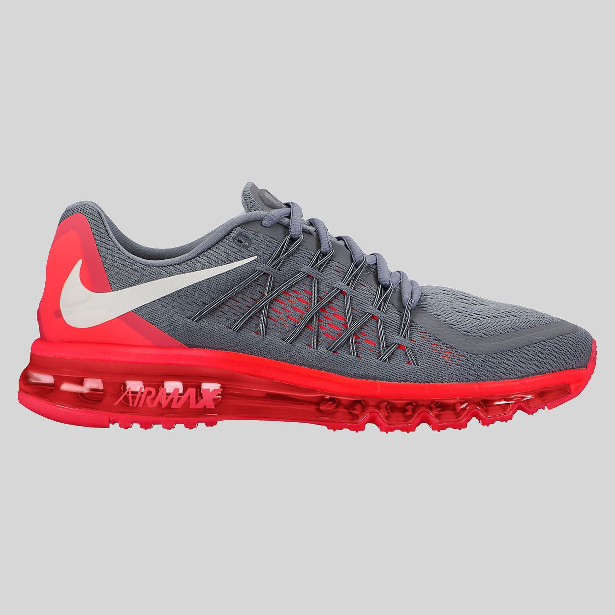 Nike Air Max 2015 Cool Grey White Bright Crimson (698902-018)