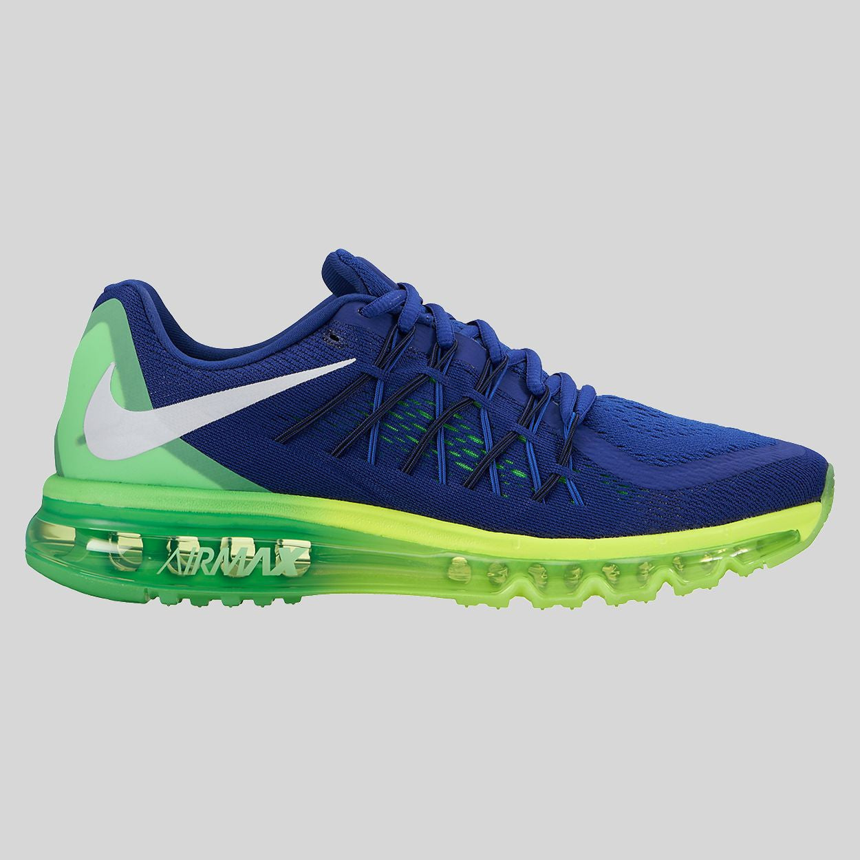 Nike Air Max 2015 Deep Royal Blue Volt Green Strike 698902 407