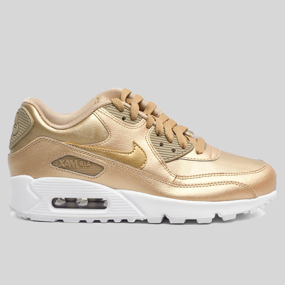 Nike Air Max 90 USA Flag Hyperfuse QS Tyrant Gold 613841 999 Mens Womens Running Shoes Athletic Sneakers 613841 999