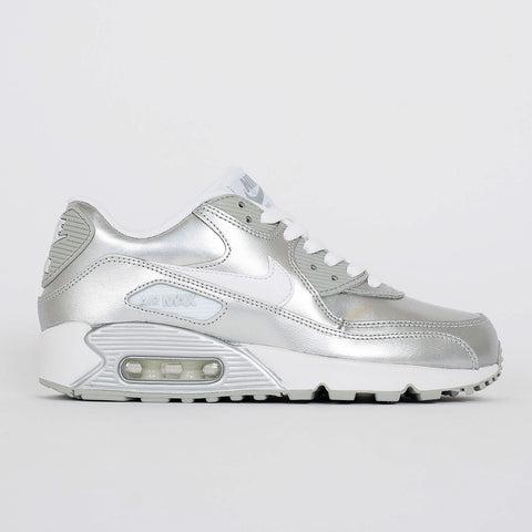 buy popular 5cd4e e3581 Nike Air Max 90 Premium LTR (GS) Iridescent Silver