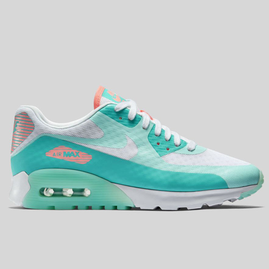 Womens Nike Air Max 90 Ultra Breathe White Lt Retro Lava Glow Nike Air Max Best Selling