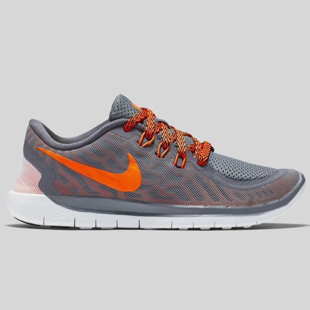 Nike Free 5.0 Grey And Orange