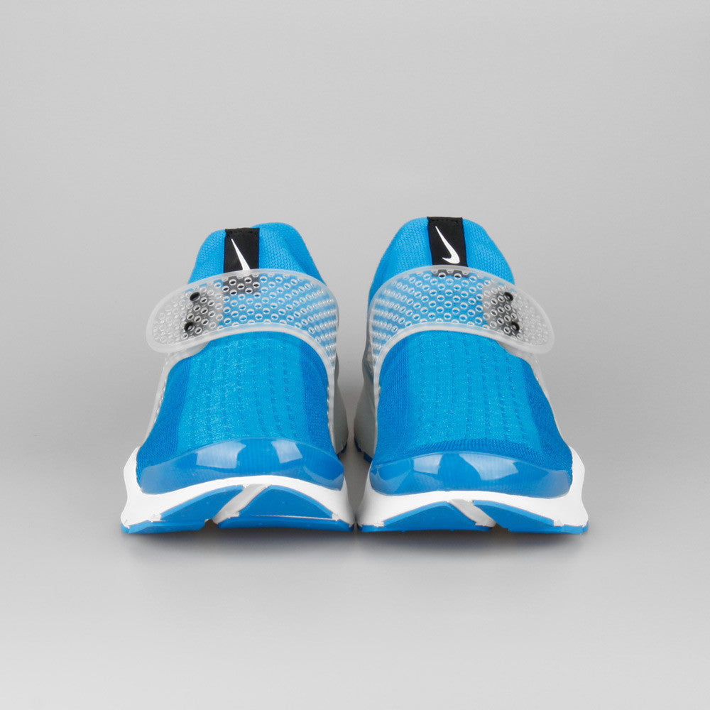 Fragment Design x Nike Sock Dart SP Photo Blue. Item Number  728748-401.  Color  PHOTO BLUE SUMMIT WHITE b27cbbc28