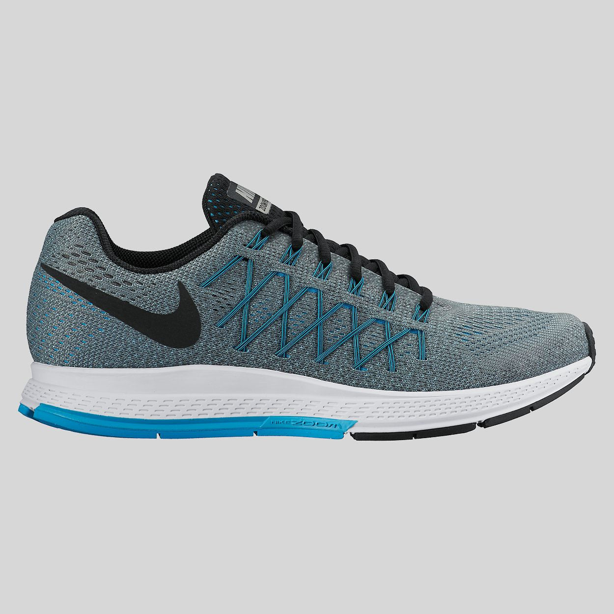 Nike Air Zoom Pegasus 32 Cool Grey Black Blue Lagoon (749340-004)