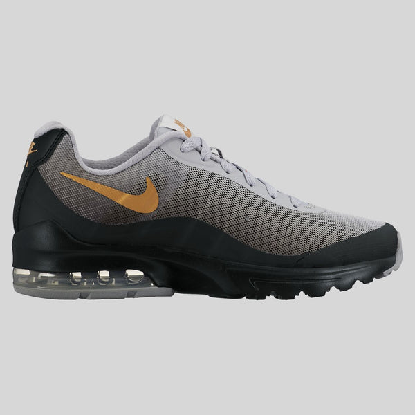 Air Max Women Black And Grey With Gold Swoosh  5a2e4eb37e75