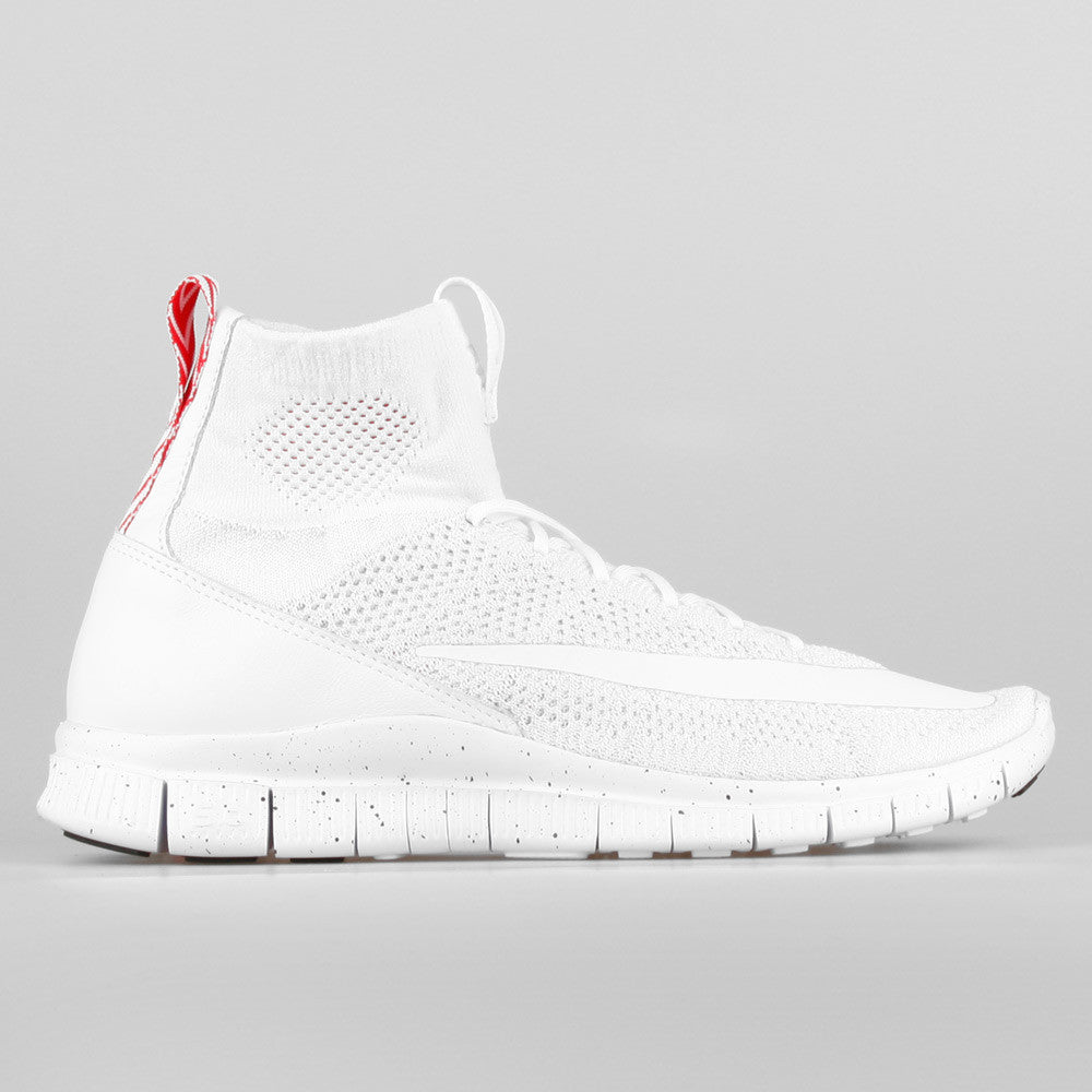 Nike Free Flyknit Mercurial White Pure Platinum University Red