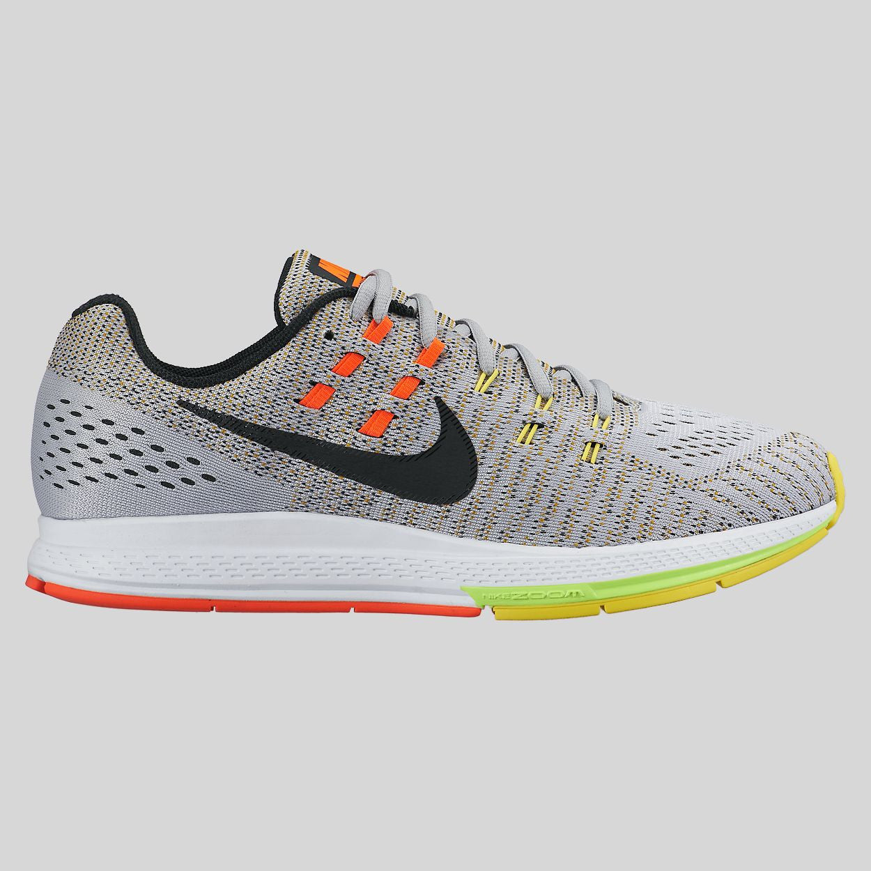Nike Air Zoom Structure 19 Wolf Grey Black Option Yellow (806580-007)