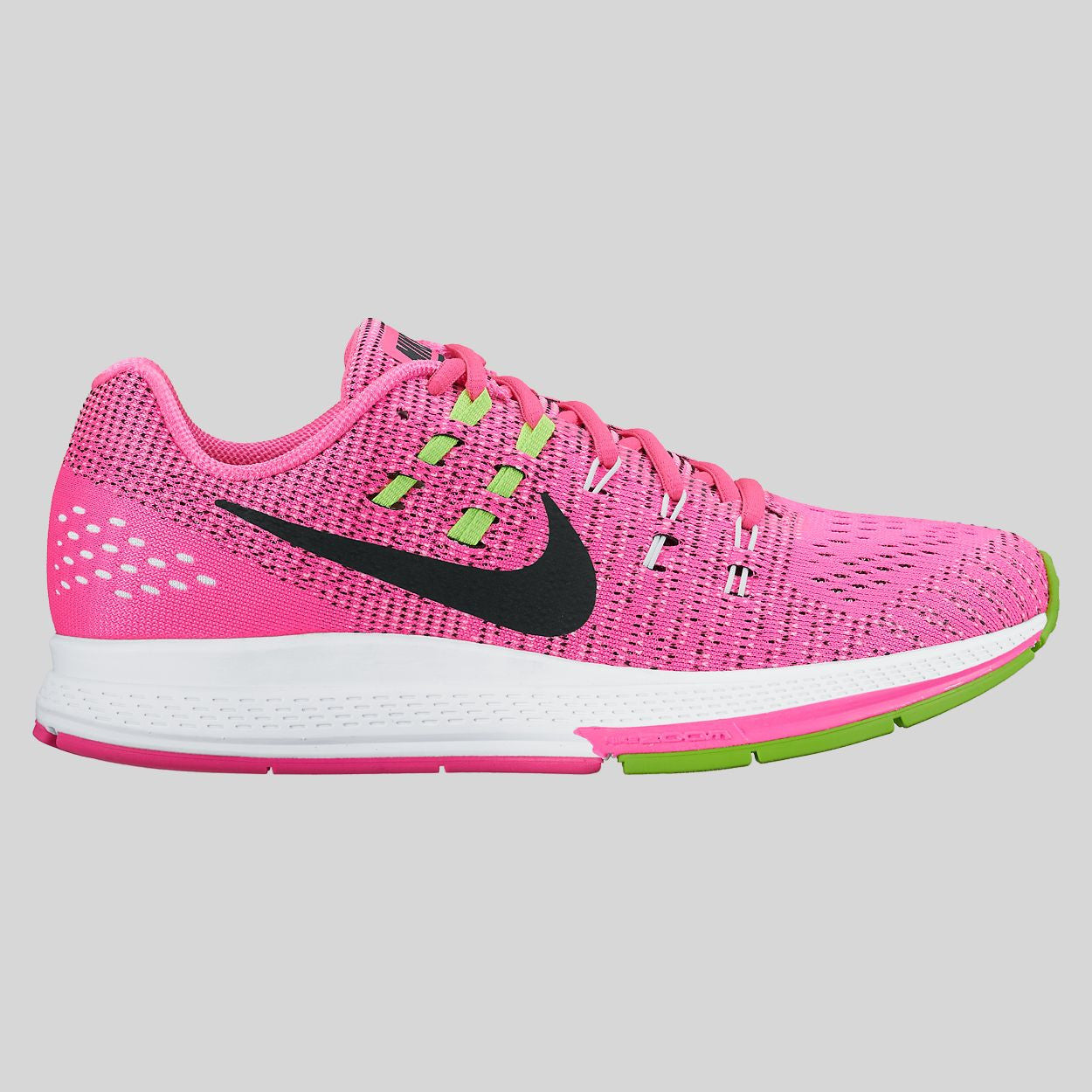 Nike Wmns Air Zoom Structure 19 Pink Blast Black Electric Green (806584-600)
