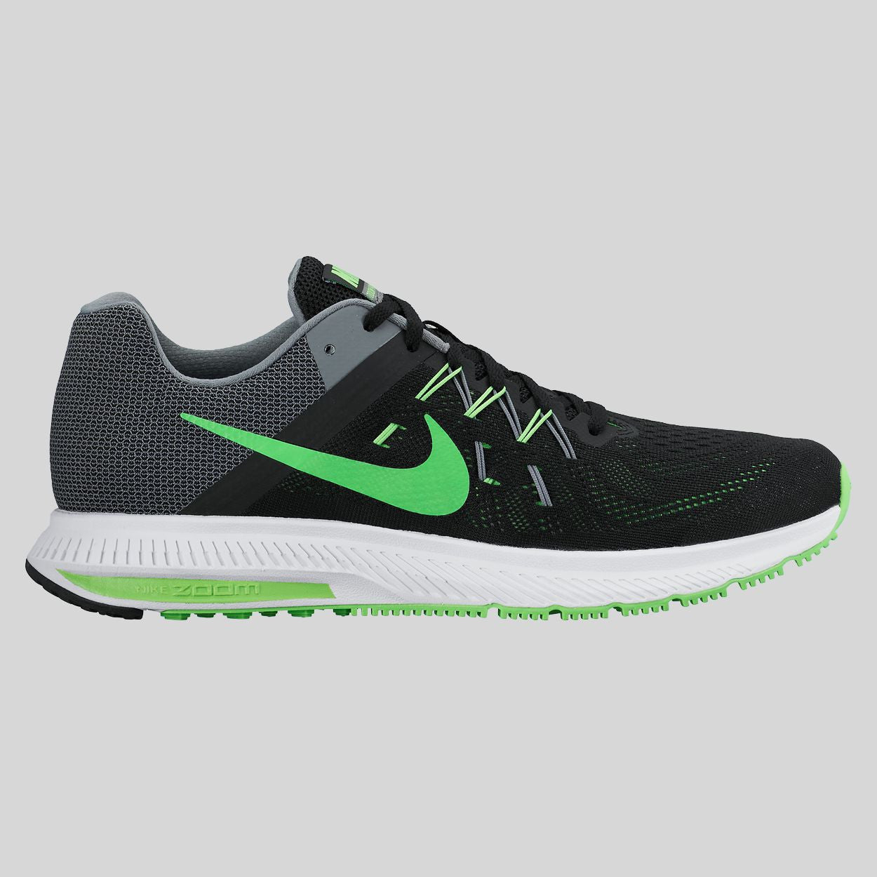 nike zoom black green