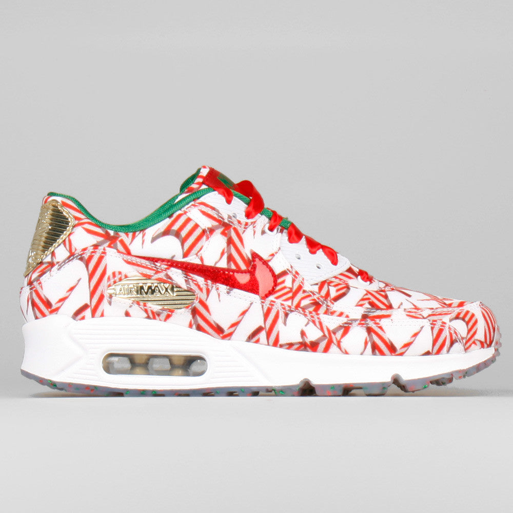 Nike Wmns Air Max 90 QS Christmas Gift Wrapped Pack (813150-101 ...