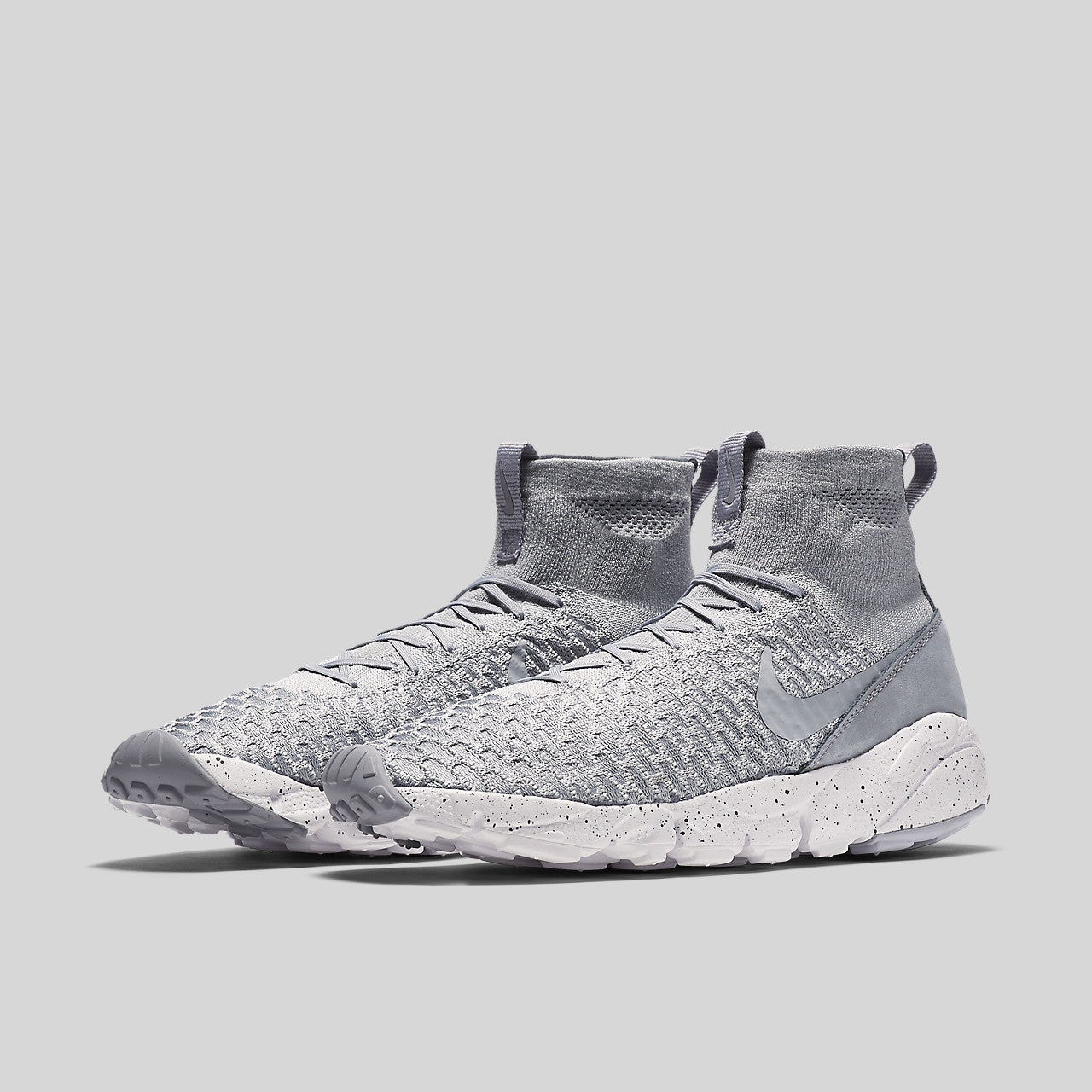 7a3161c9ea9363 Nike Air Footscape Magista Flyknit Wolf Grey Cool Grey White. Item Number   816560-005