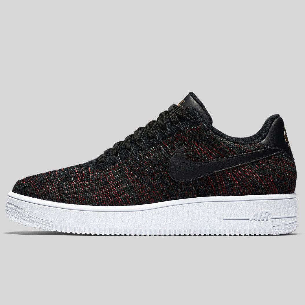 fashion price reduced sale usa online Nike AF1 Ultra Flyknit Low Black Metallic Gold White (817419-005 ...