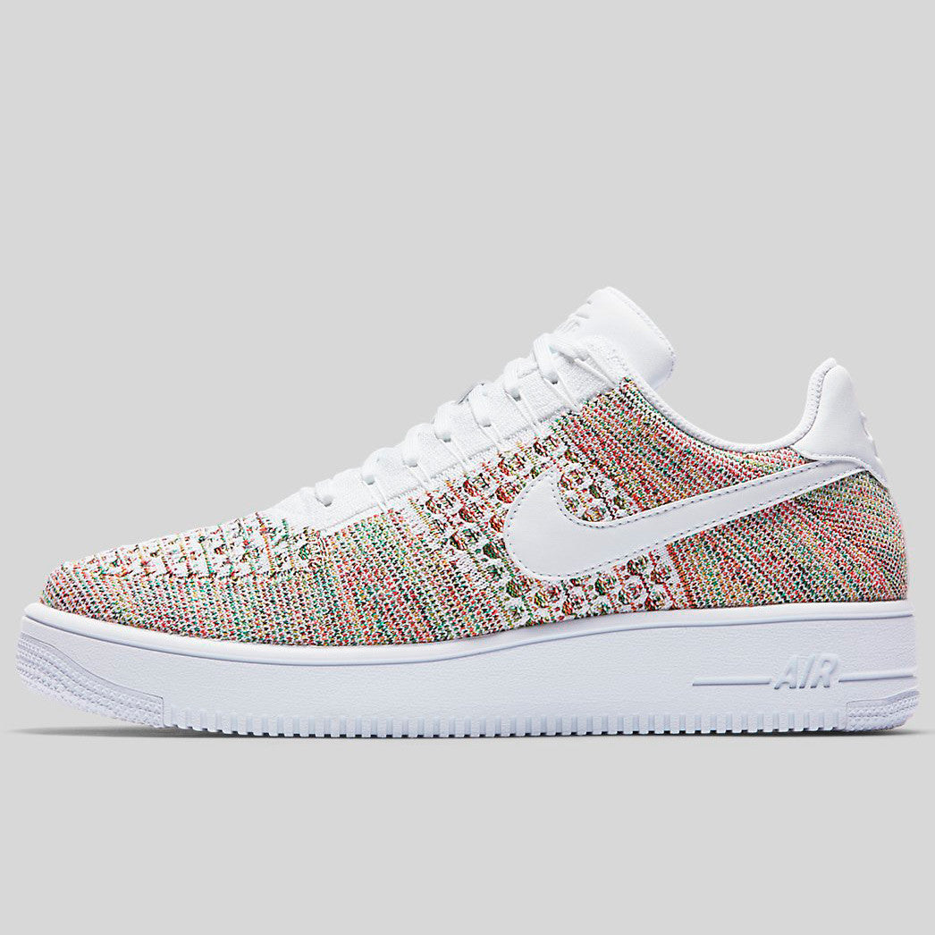 529ced1d7961 Nike AF1 Ultra Flyknit Low Yellow Strike White Bright Crimson (817419-701)