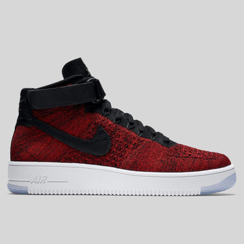e7ac29ca52dc Nike Air Force 1 Ultra Flyknit Mid University Red Black