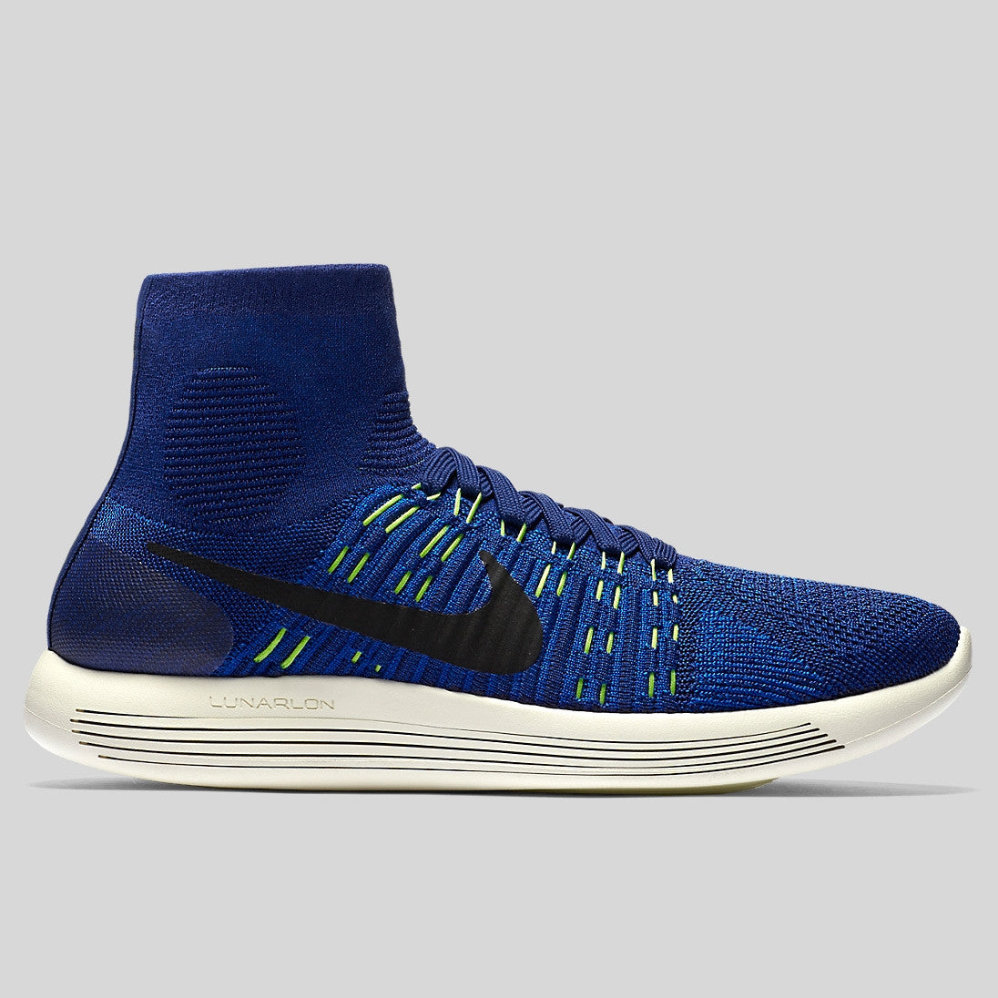 Nike Lunarepic Flyknit Deep Royal Blue Black Volt (818676-400)  48d0b285aeb5
