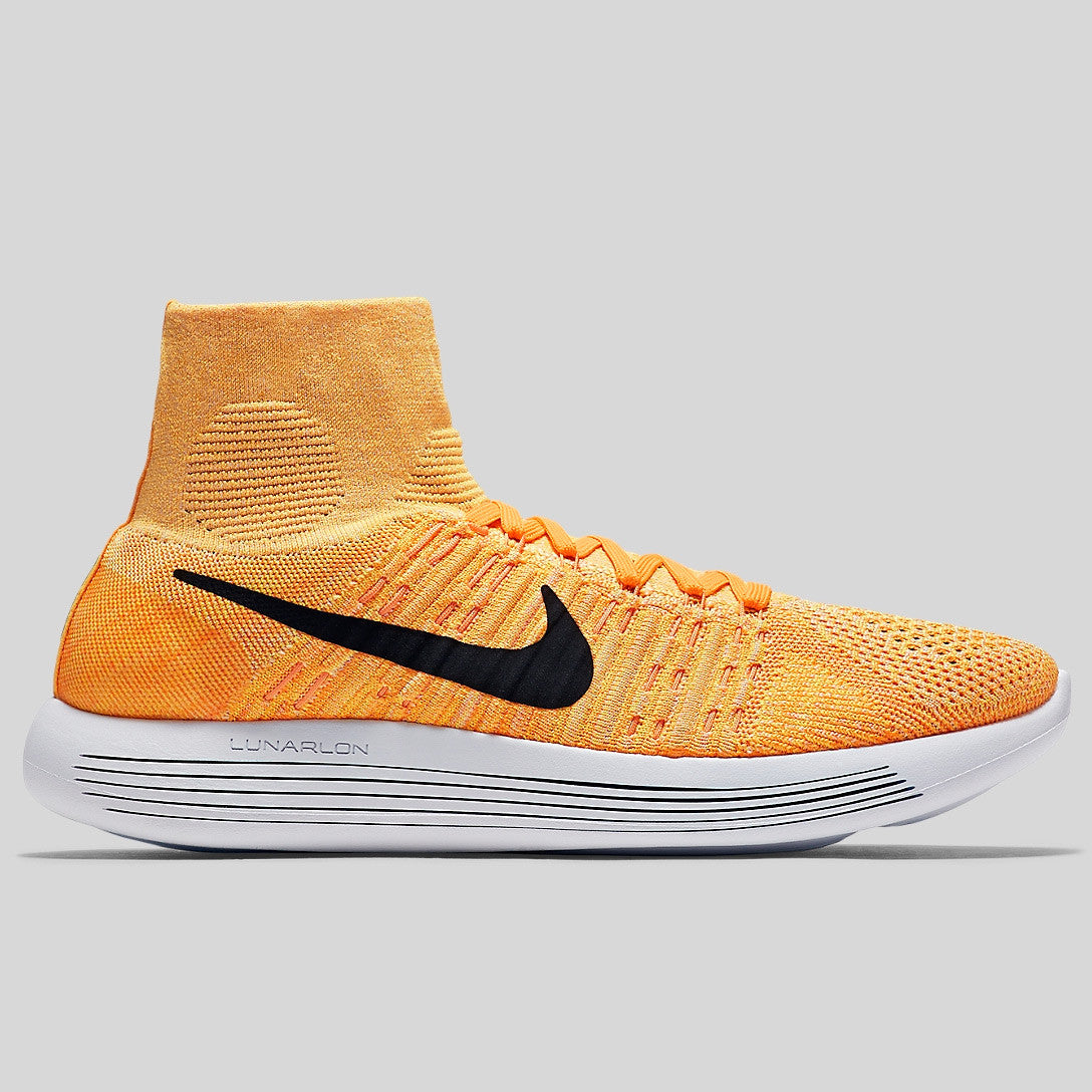 Nike LunarEpic Flyknit JD Sports Nike Lunarepic Flyknit Laser Orange Black  White ... c7a9a1915e57