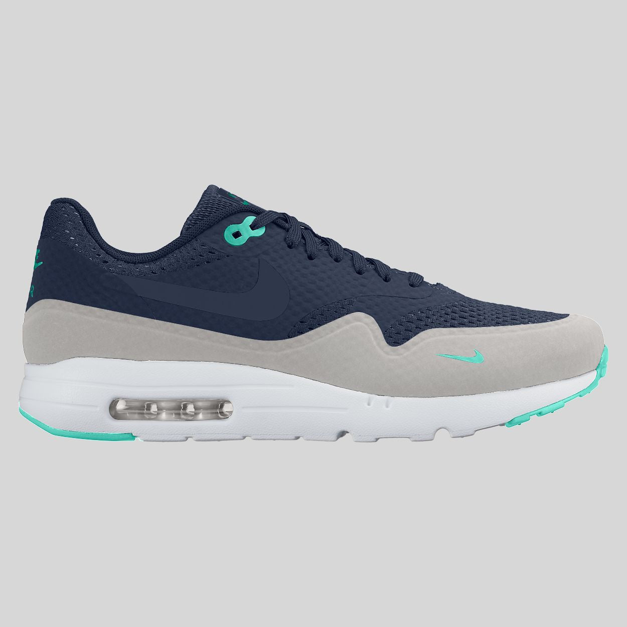 the latest e0727 0c943 Nike Air Max 1 Ultra Essential Midnight Navy Hyper Turquoise (819476-400)  ...