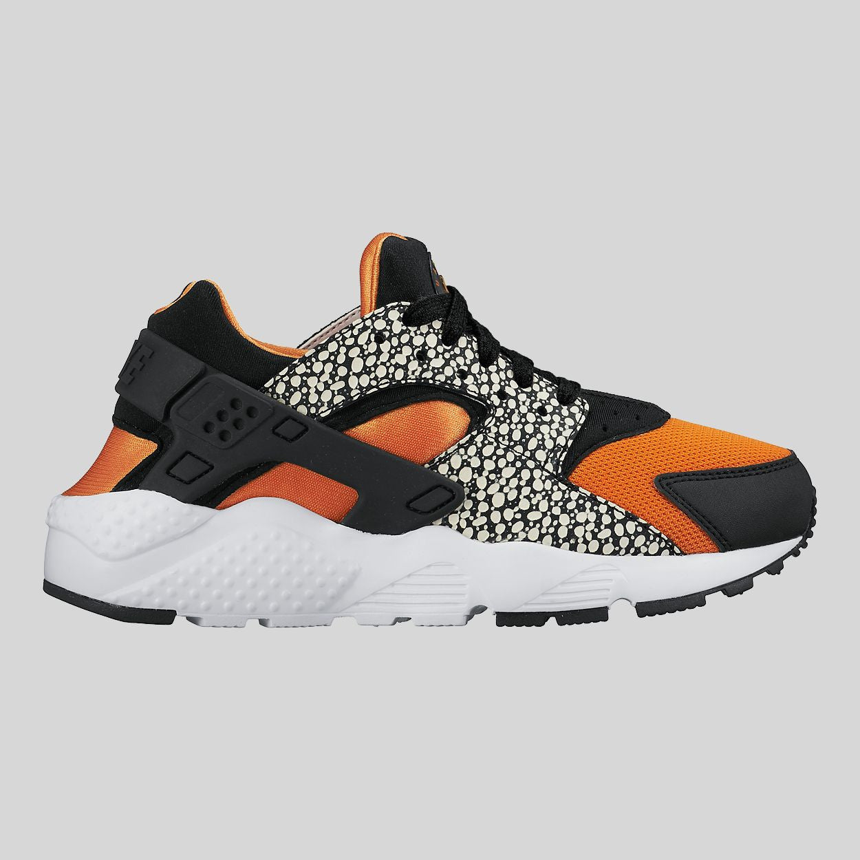 Nike Huarache Run Safari (GS) White Black Clay Orange (820341,100)