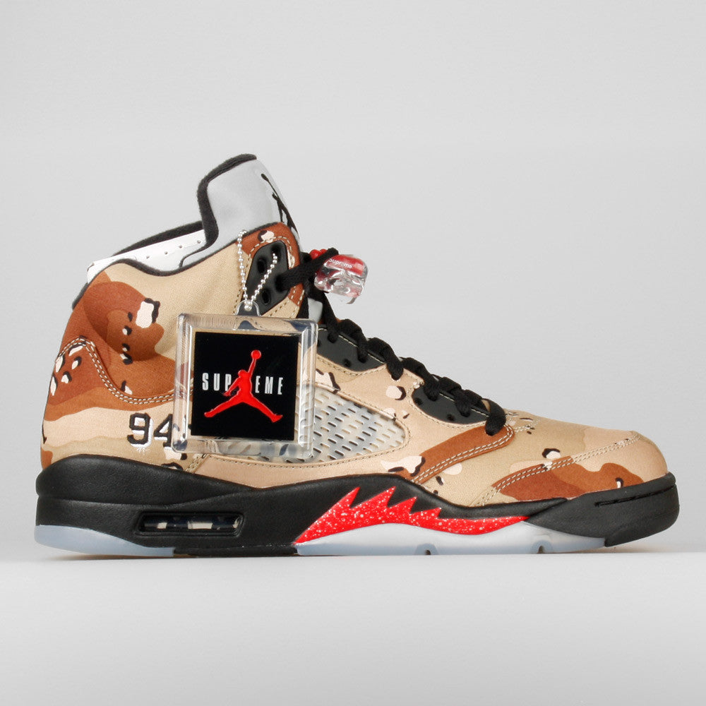 new product b7ac0 c4205 Supreme x Nike Air Jordan 5 Retro Camo (824371-201)  KIX-FIL