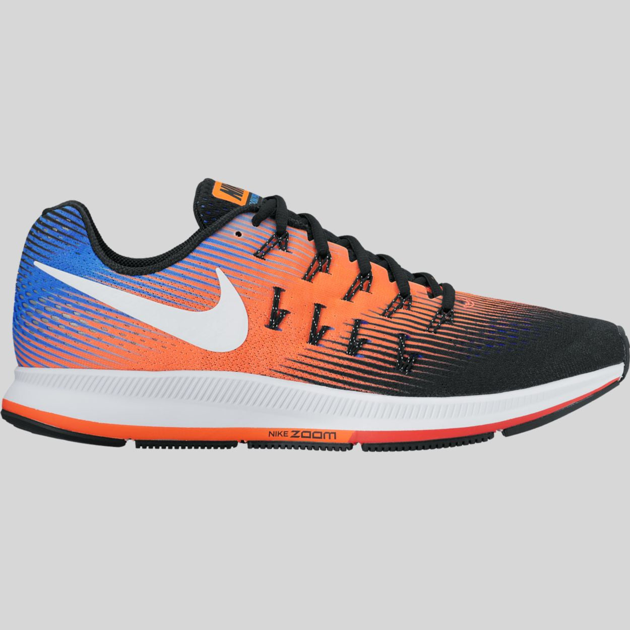 Nike Air Zoom Pegasus 33 Black White Hyper Orange Paramount Blue  (831352-010)