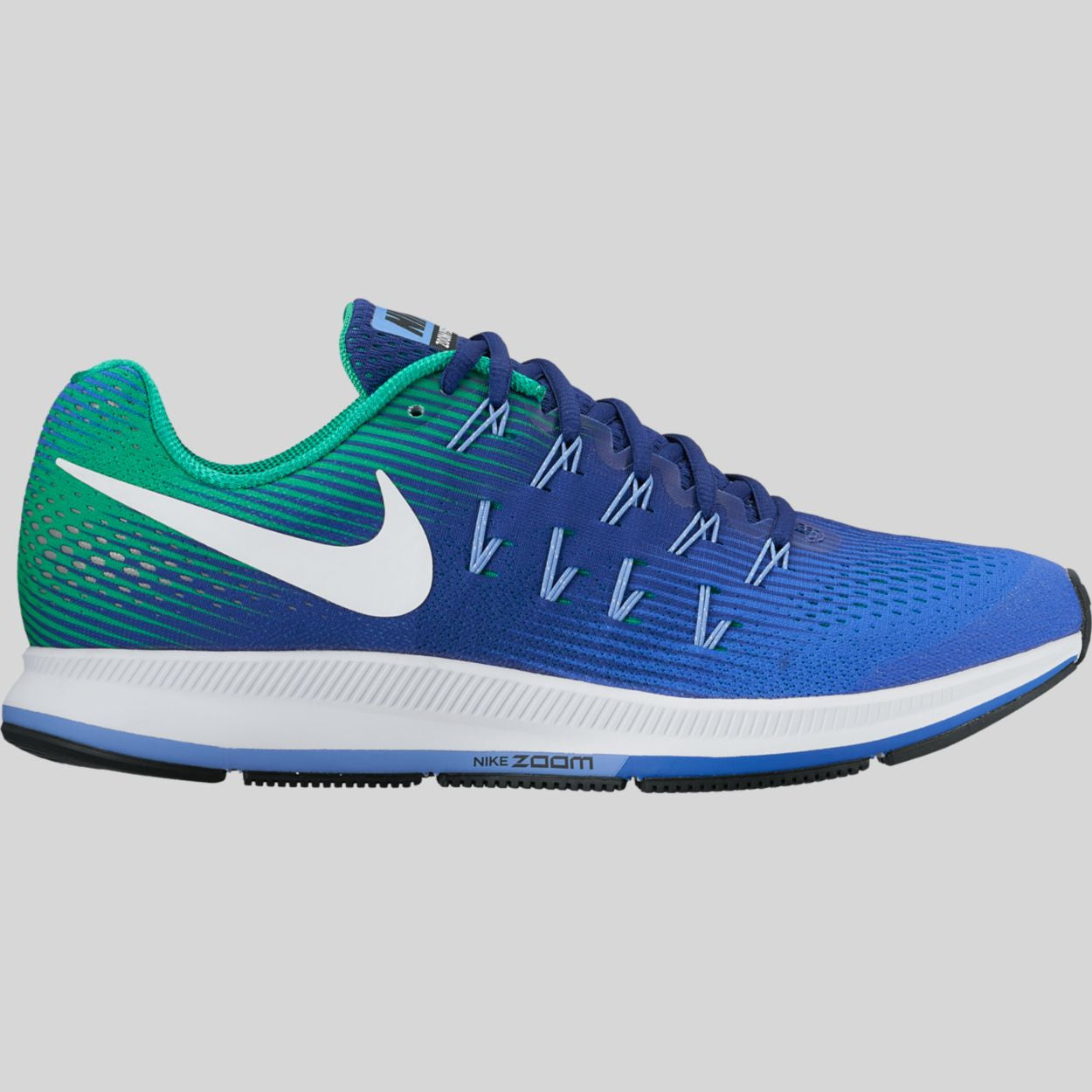 b864a62fd5d Nike Air Zoom Pegasus 33 Medium Blue White Deep Night Black (831352-404)