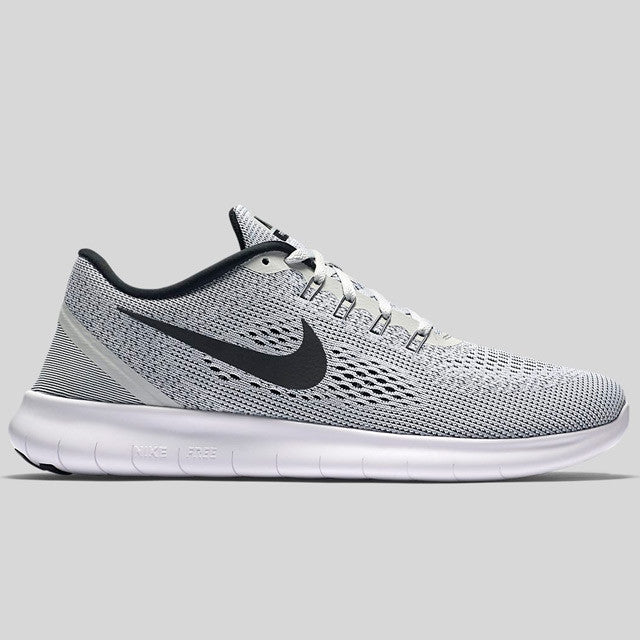 nike free rn white black pure platinum