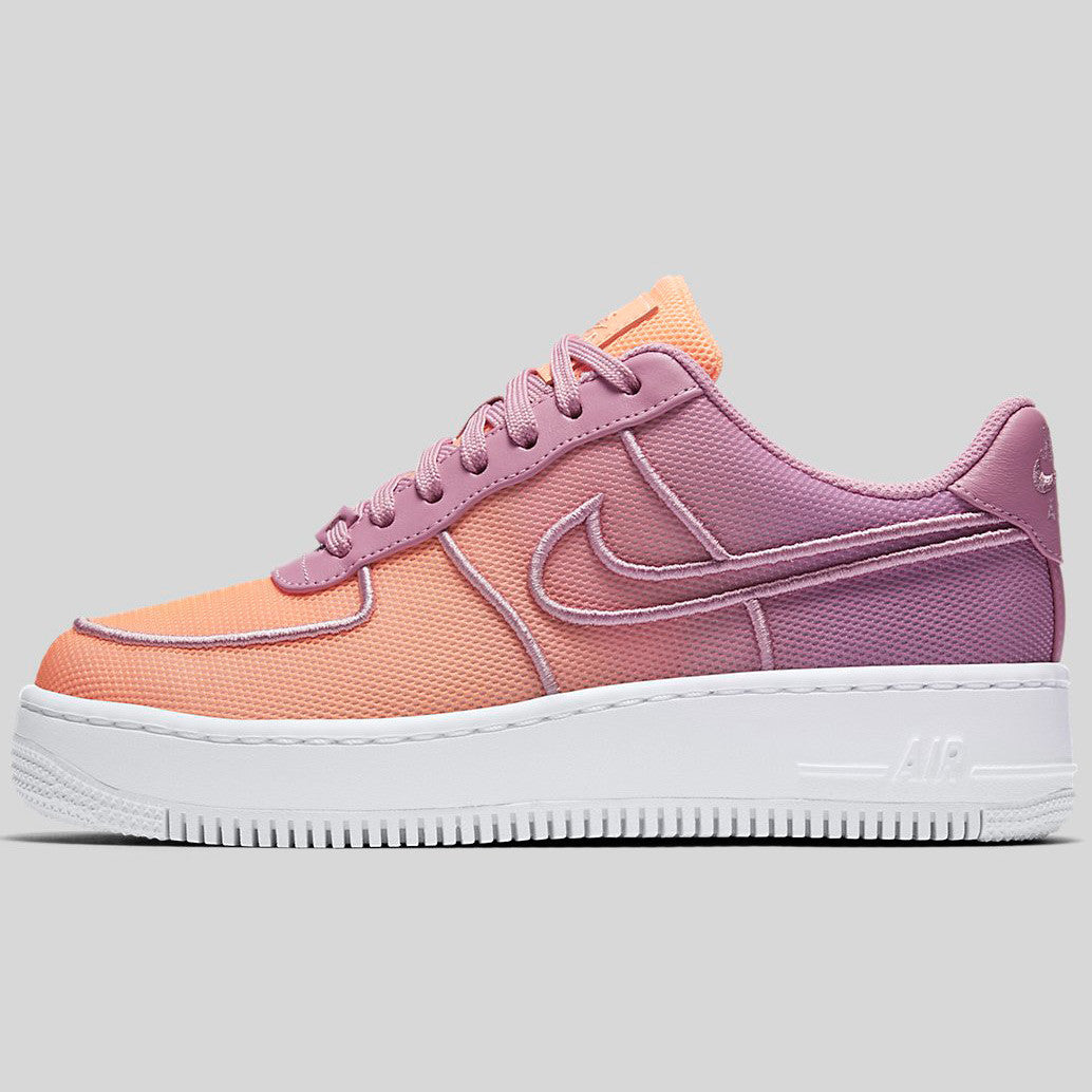 sports shoes 7472f 6de65 Nike Wmns AF1 Low Upstep BR Orchid White Sunset Glow