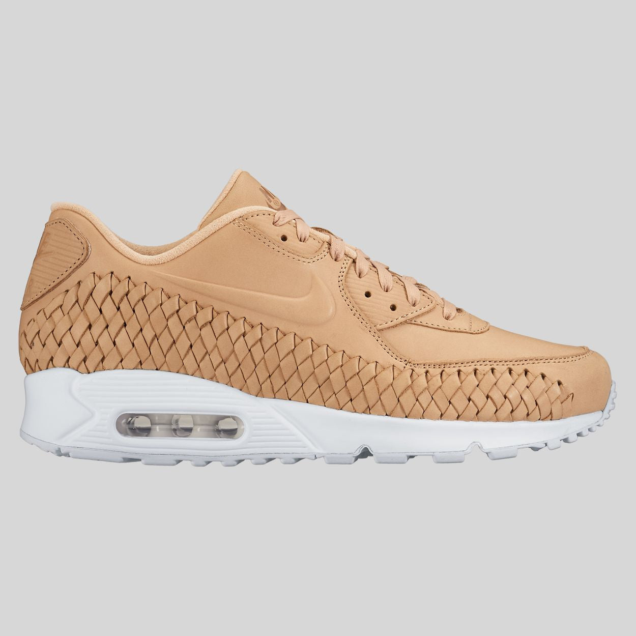 Nike Air Max 90 Woven Unisex Light Grey White Shoes 833129 002