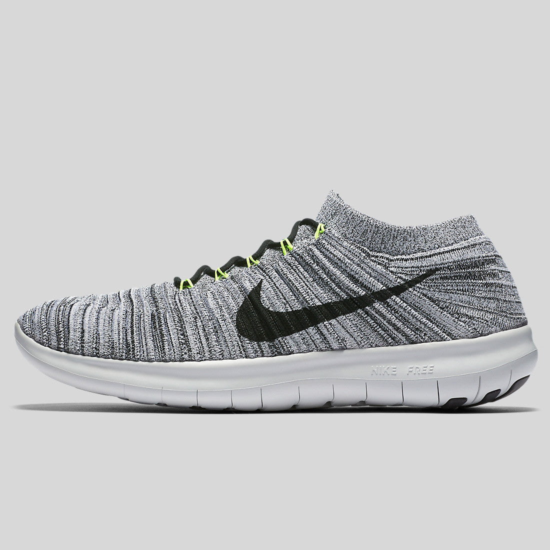 Nike Free RN Motion Flyknit White Black Volt Off White (834584-100 ... c36b56b02
