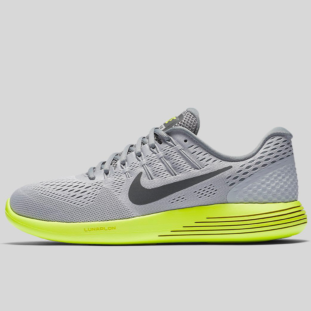 new concept 9d0e7 0c1dc Nike Lunarglide 8 Wolf Grey Anthracite Volt Cool Grey (843725-010)