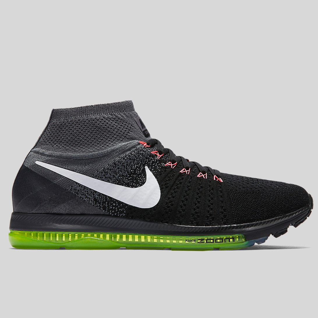 f4239376b5d27 Nike Air Zoom All Out Flyknit Black Cool Grey Volt