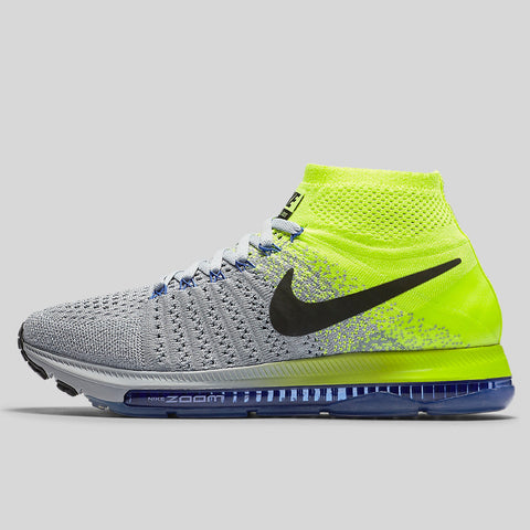 new concept f6542 c3a01 Nike Wmns Zoom All Out Flyknit Wolf Grey Black Volt Paramount Blue (845361 -007