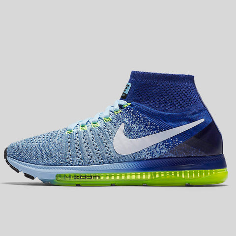 Nike Wmns Zoom All Out Flyknit Bluecap White Deep Royal Blue Volt (845361-400  ...