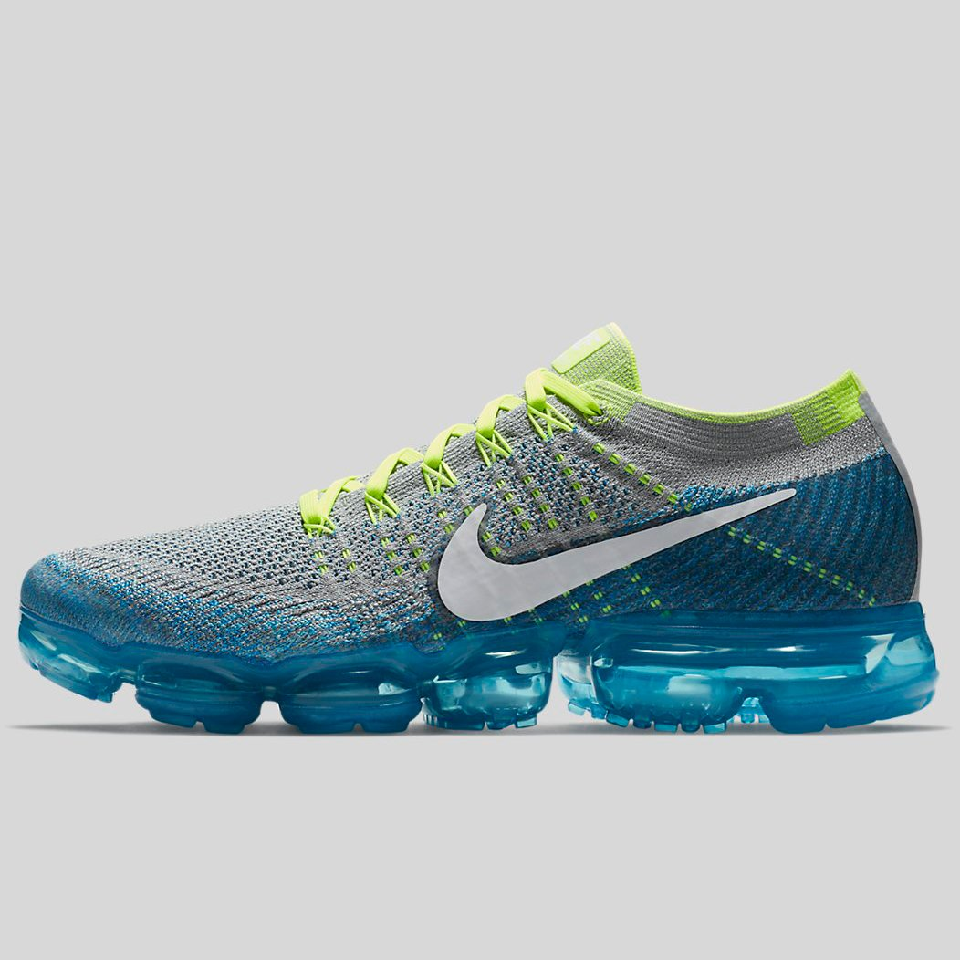 promo code aeb7e a2d67 Nike AIR VAPORMAX FLYKNIT Wolf Grey White Chlorine Blue Photo Blue