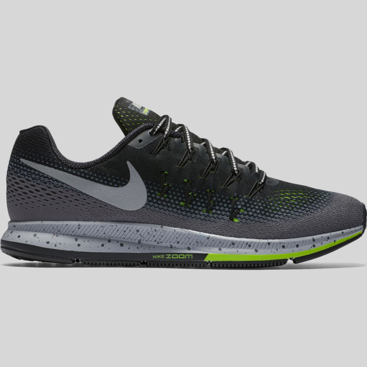 febb6befa69e5 australia nike running shoe air zoom pegasus 33 shield black metallic  silver f87d3 80a25