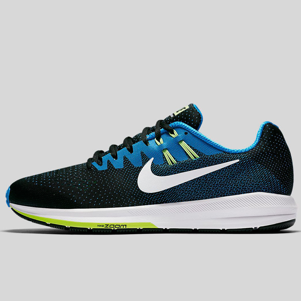 cheap for discount 6a0e4 ab917 Nike Air Zoom Structure 20 Black White Photo Blue Ghost Green (849576-004)