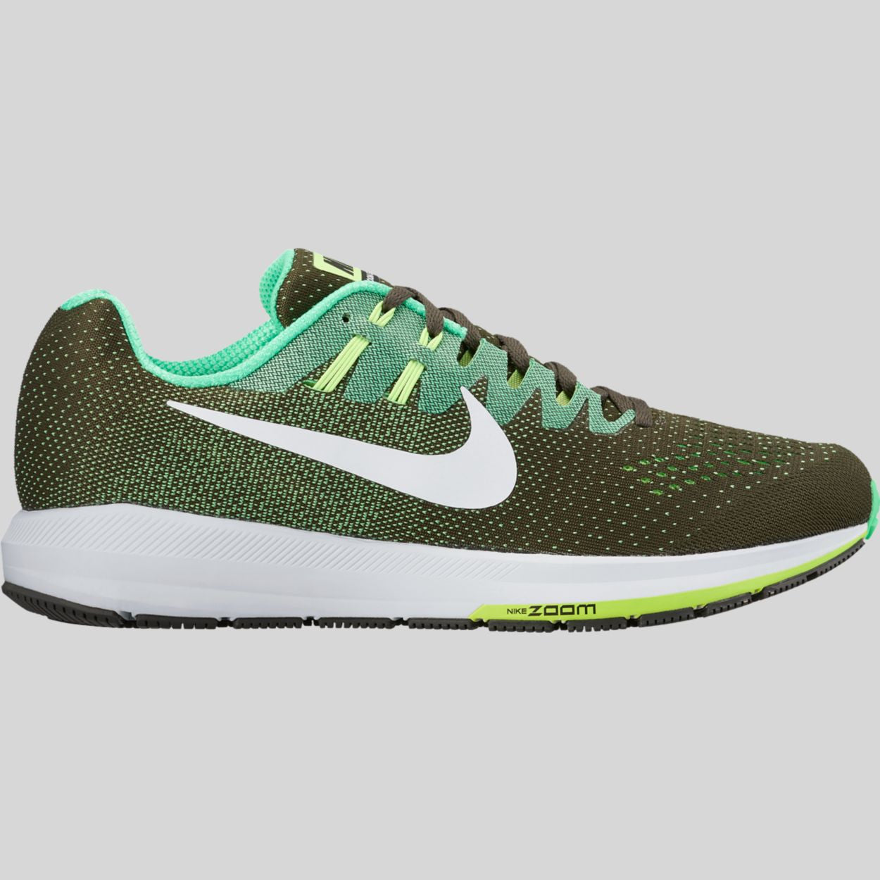 newest collection b5e1e e871c Nike Air Zoom Structure 20 Electro Green White Black Ghost Green  (849576-301)