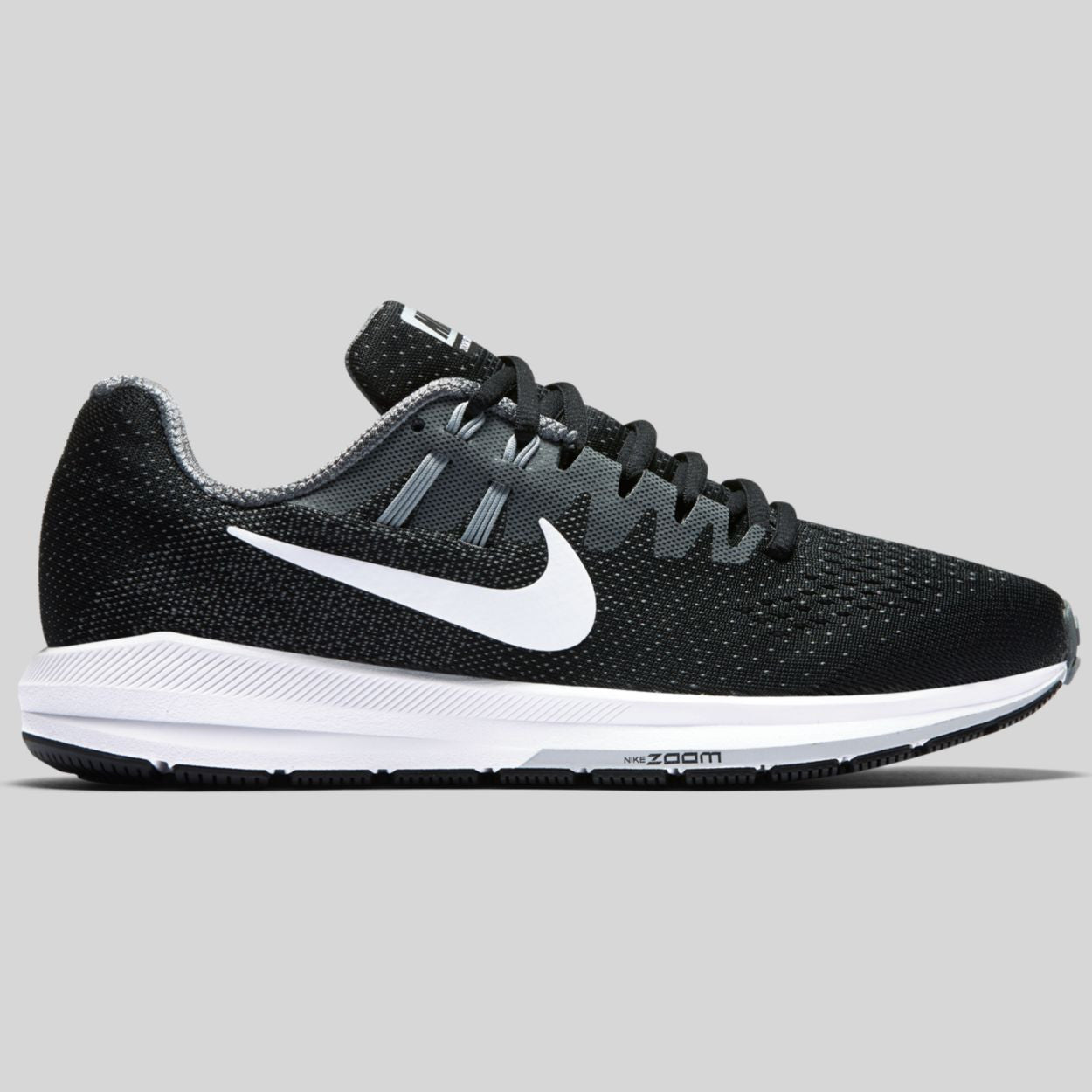 Nike Wmns Air Zoom Structure 20 Black White Cool Grey (849577-003 ... aa86c18df
